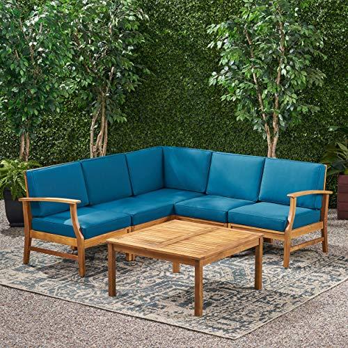 Amazon.com: Capri de 6 sillones de patio en madera con ...