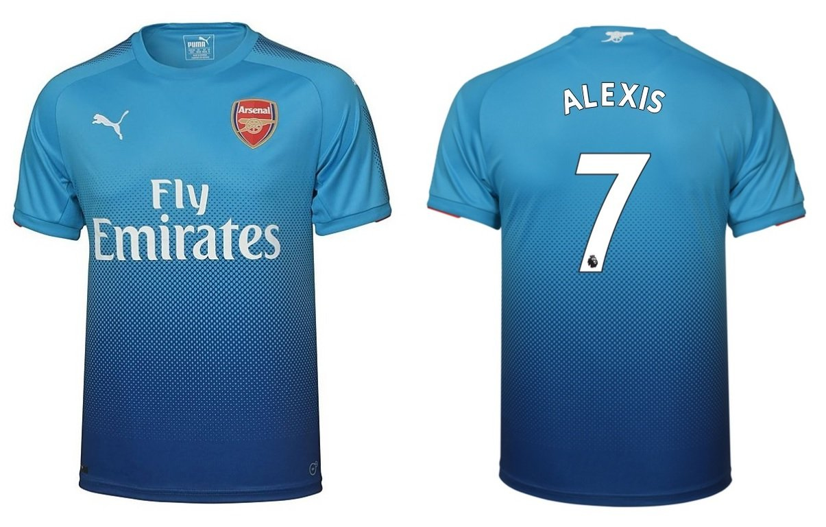 Trikot Kinder Arsenal London 2017-2018 Away - Alexis 7