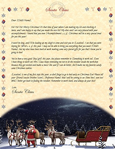 (Personalized Christmas Letter from Santa)