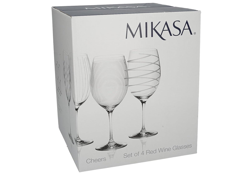 4 Verres avec des Motifs 20 x 17 x 17 cm Verre Silver MIKASA Creative Tops