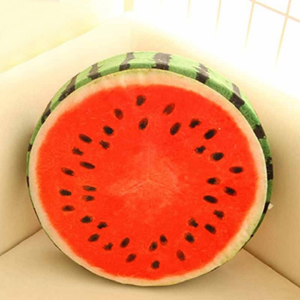 Milopon Chair Cushion Pad Fruits Flannel Round Seat Cushion for Recliner Chairs Garden Furniture lemon