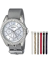 Women's XO9053 Rhinsetone-Accented Watch with Interchangeable Straps