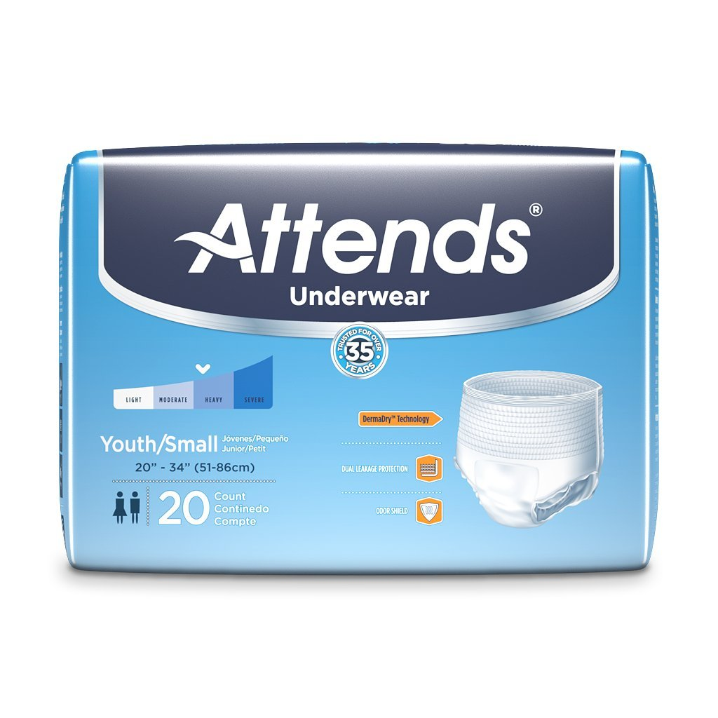 Buy Attends Super Plus Absorbency Protective Underwear size Youth/Small  Online at Low Prices in India - Amazon.in