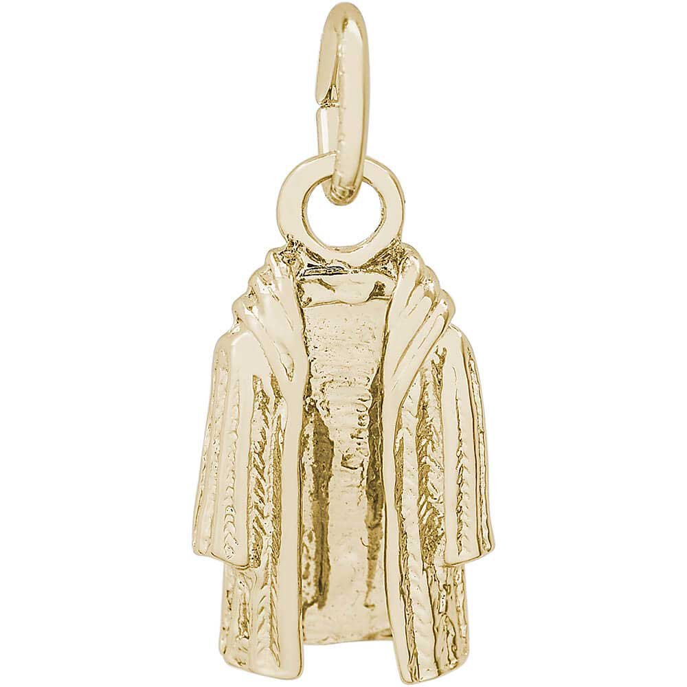 Rembrandt Charms Fur Coat Charm, Gold Plated Silver