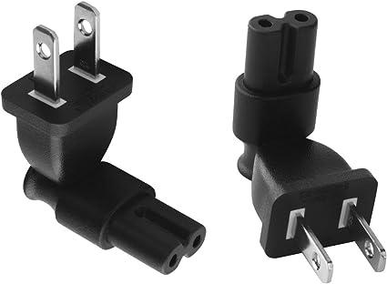 2 prong Power plug adapter,USA IEC 60320-C7 receptacle to NEMA 1-15P