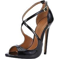 Unisex Men's Women's Stiletto High Heel Cross Strapy Sandals