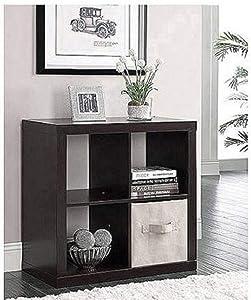 Better Homes & Gardens Square 4-Cube Bookcase (Espresso)