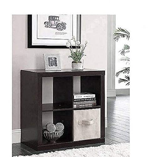 Better Homes and Gardens.. Bookshelf Square Storage Cabinet 4-Cube Organizer Weathered White, 4-Cube Espresso, 4-Cube