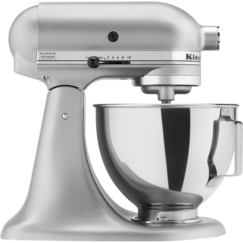 KitchenAid KSM85 4.5-Quart Tilt-Head Stand Mixer - Silver Metallic
