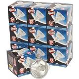 10 x Dichroic GU10 Halogen Lamp 50w (40DEG BEAM) 240V