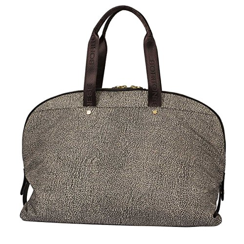 Borbonese Women's 934255296C45 Brown Polyester Tote by BORBONESE