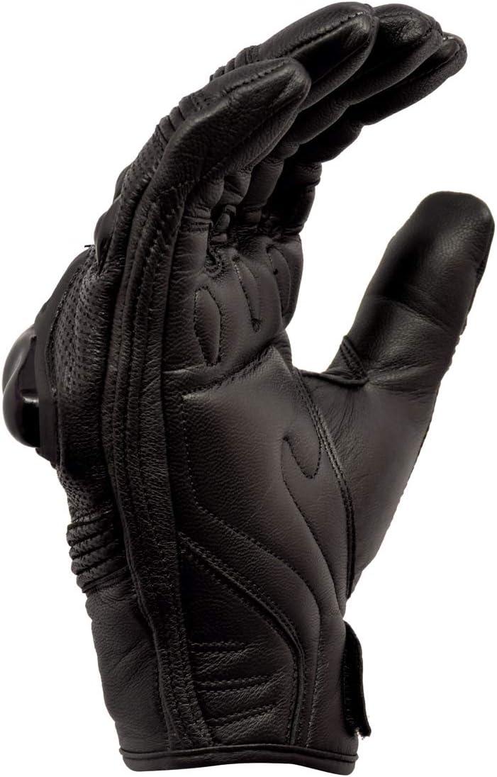 Royal Men Gear con protezione per nocche Guanti da moto in pelle di alta qualit/à
