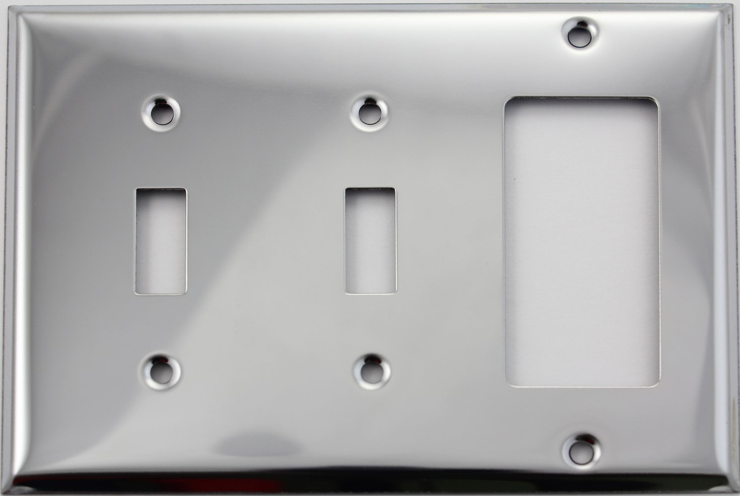 Stainless Steel 3 Gang Wall Plate - 2 Toggle 1 GFI/Rocker