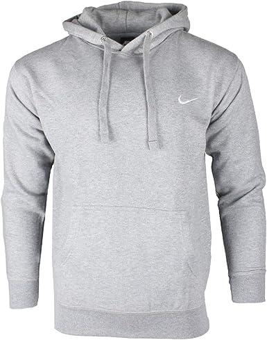 nike swoosh hoodie sweatshirt grey