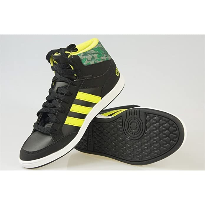 official photos 4dbd6 d62ec Adidas - Hoops Mid K - CG5735 - Color  Negro-Verde-Amarillo - Size  36.0   Amazon.es  Zapatos y complementos