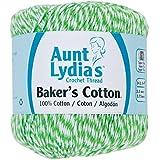 Coats Crochet Aunt Lydia's Baker's Cotton Crochet Thread, Green