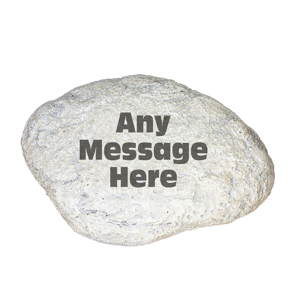 "GiftsForYouNow Any Message Personalized Garden Stone, 11"" W x 8"" H"