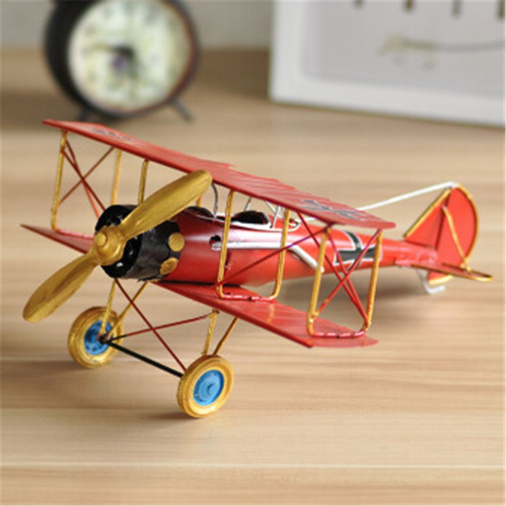 QAZSDF Airplane Model Crafts, Vintage Metal Handmade Craft Gift Living Room Dining Room and Bar