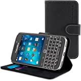 Coque Classic, Snugg BlackBerry Classic Etui à Rabat [Emplacements Pour Cartes] Cuir Portefeuille Housse Désign Exécutif [Garantie à Vie] - Cuir, Legacy Range