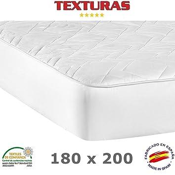 TEXTURAS BASICS - Protector de Colchón ACOLCHADO de microfibra para Hotel y Apartamentos ECONOMY (Varios tamaños disponibles)  (180_x_200_cm): Amazon.es: ...