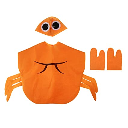 P Prettyia Set de Disfraz con Sombrero de Forma Cangrejo Naranja ...