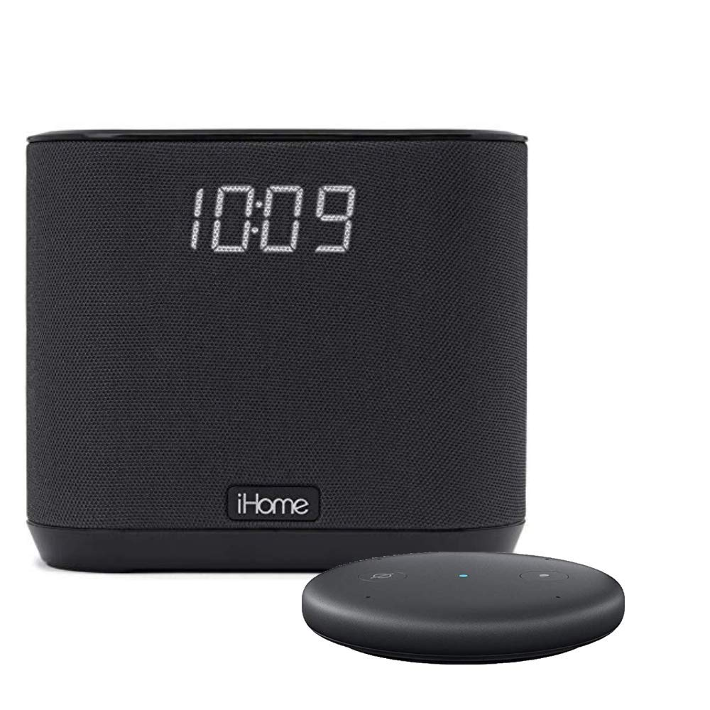 iHome iAV2 V2 speaker and alarm clock bundle with Echo Input - Black