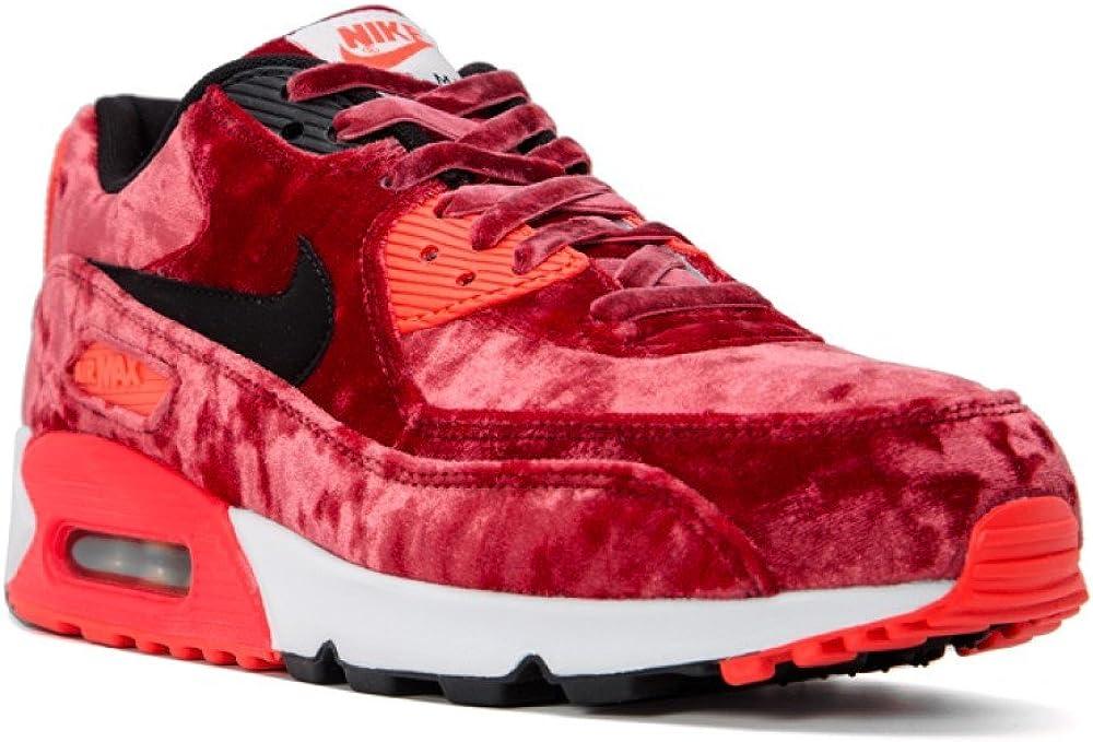 Transición Pensionista legación  Nike Air Max 90 Aniversario Pack Terciopelo Rojo Infrarrojo Zapatillas,  color Rojo, talla 41 EU: Amazon.es: Zapatos y complementos