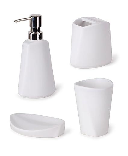 Umbra Ava Bathroom Set White Amazon Ca Home Kitchen
