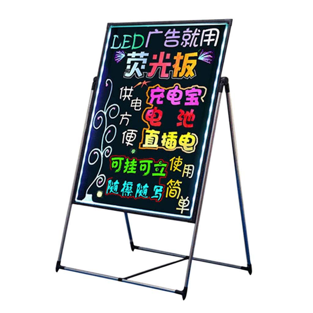 Mesurn JP Led電子蛍光ボード、調節可能なフリーリフト、60 * 80ビルボード、黒板、蛍光スクリーン、手書き縦書きボード 60*80  B07MXY6D6V