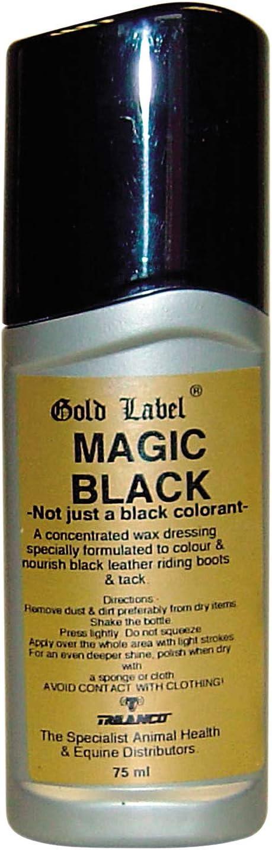 Cuidado de Piel con diseño de Campana Dorada mágica, Color Negro