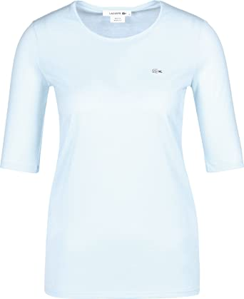 288f0e63a97cb0 Lacoste TF8065 Klassisches Damen Basic T-Shirt, Rundhals, 3/4 Arm ...