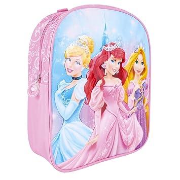 Mochila para Niña Princesas Disney - Bolso para Escuela y guardería con Estampado Brillante Ariel Cenicienta