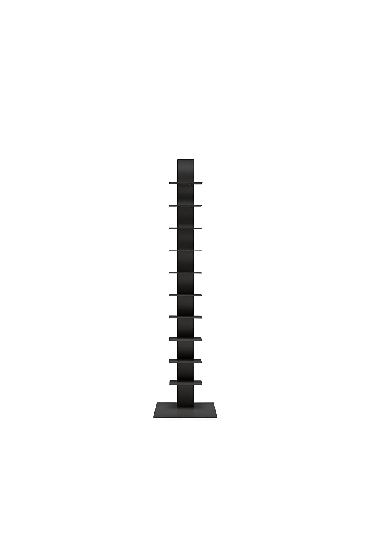 イタリア 本棚 おしゃれ ブックケース Sapiens(サピエンス) H152cm (仕切り10枚) ブラック/アンスラサイト無煙炭色 デザイナーズ家具 デザイン ブックタワー シェルフ B00IIPROP8