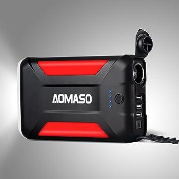 Cargador portátil de 42000 mAh, Batería Externa multipropósito, Power bank Aomaso 5.5A con 3 salidas tipo USB y salida para encendedor de coche con ...