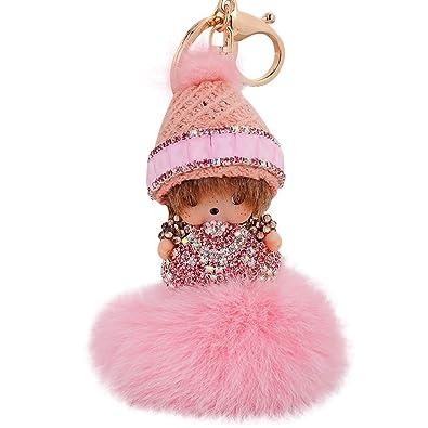 Amazon.com: QTKJ - Llavero con diseño de muñeca de cristal y ...