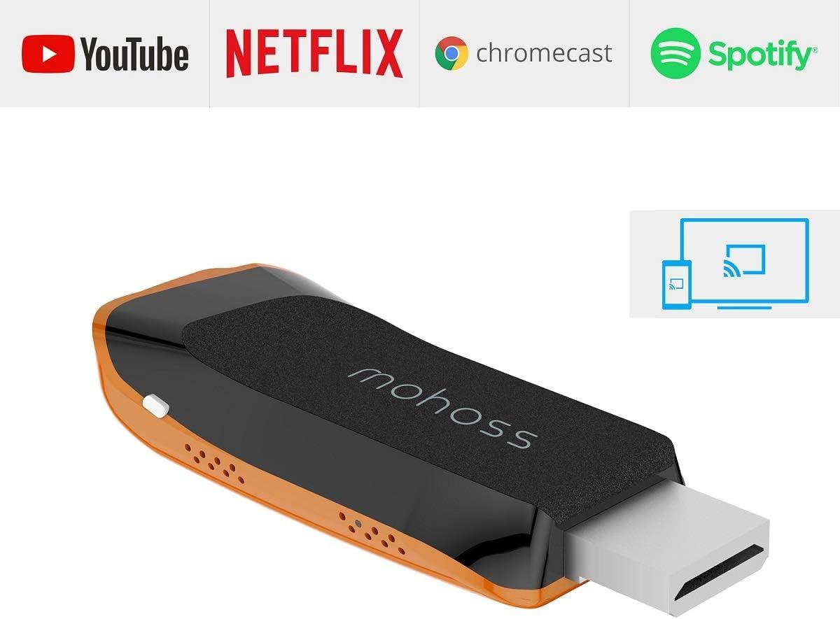 Wireless Miracast Dongle, adaptador HDMI inalámbrico TV Adaptador de Receptor compatible con DLNA Airplay Mirror Google Chromecast Netflix para IOS/Android/Windows/Mac: Amazon.es: Electrónica