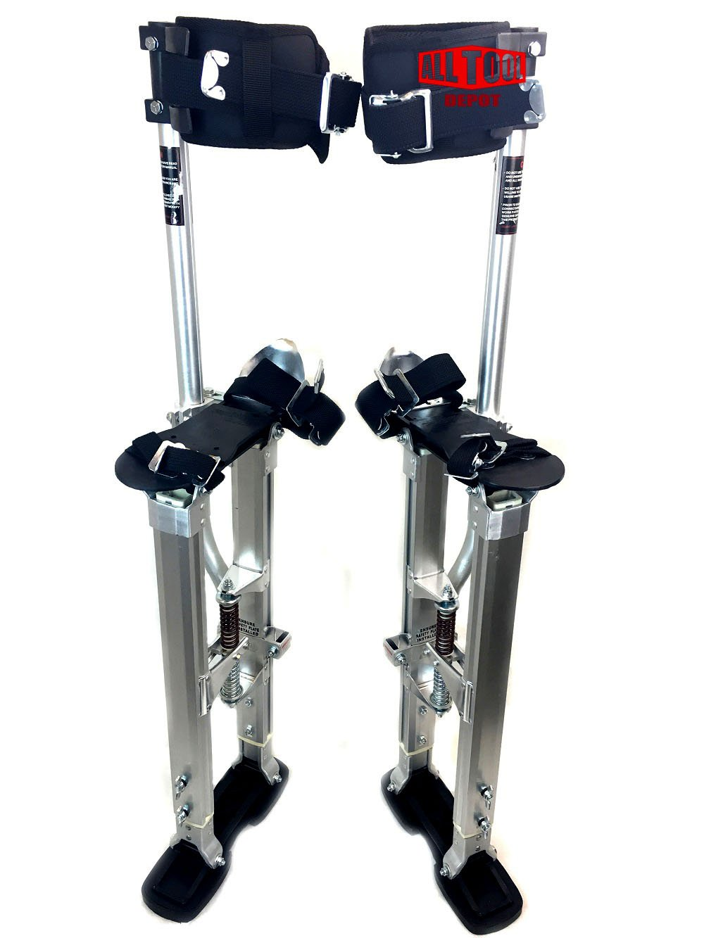 SurPro Quad Lock Aluminum Drywall Stilts, Adjustable Height 18-30 in. (SUR-SP-1830AP)
