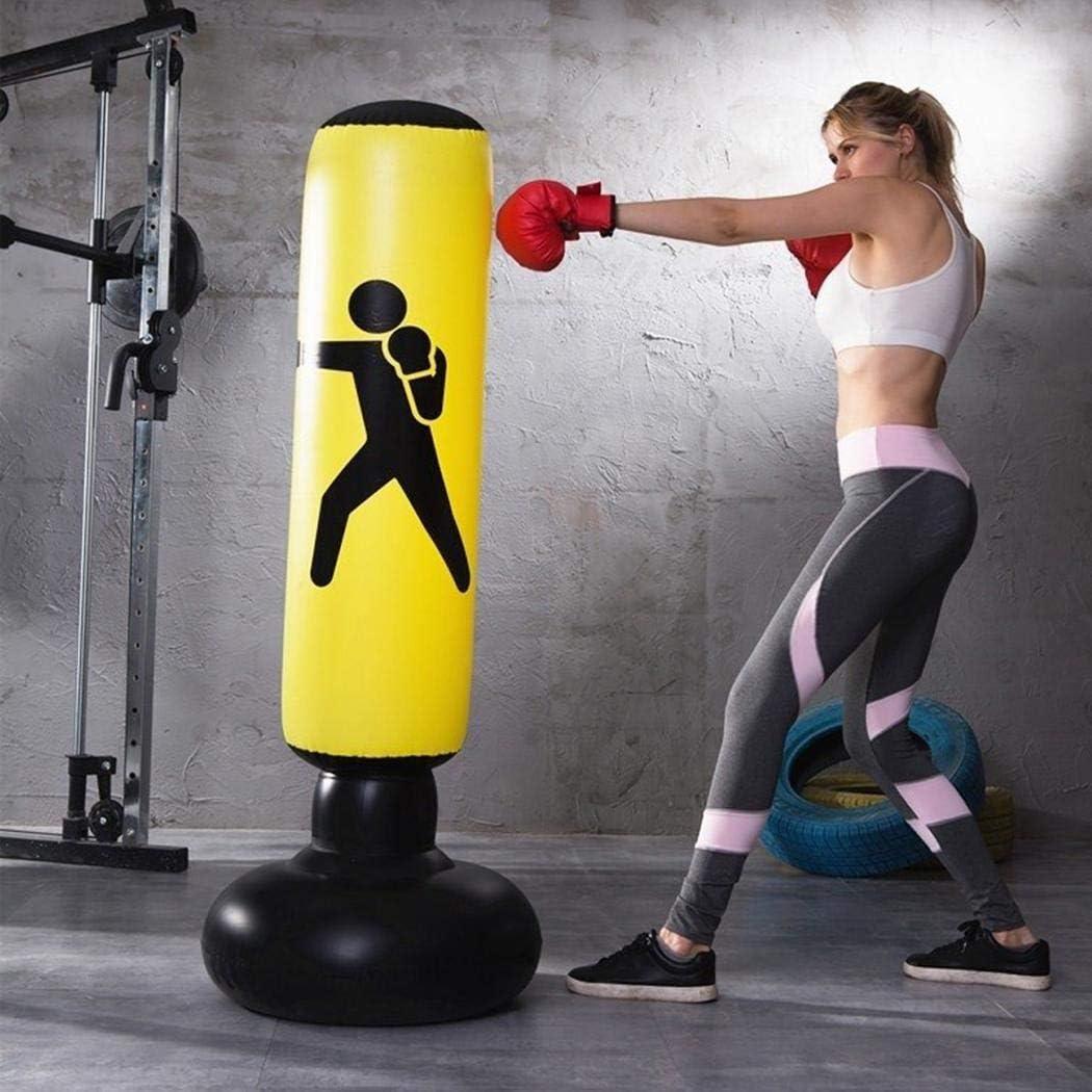Gfones Inflatable Punching Bag Tumbler Freestanding Target Training Tower Boxing Column Boxing Pads