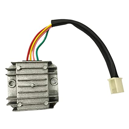 B Blesiya Piezas de Repuesto de Cable de Regulador de Voltaje 4 para Moto ATV GY6 50cc 150cc