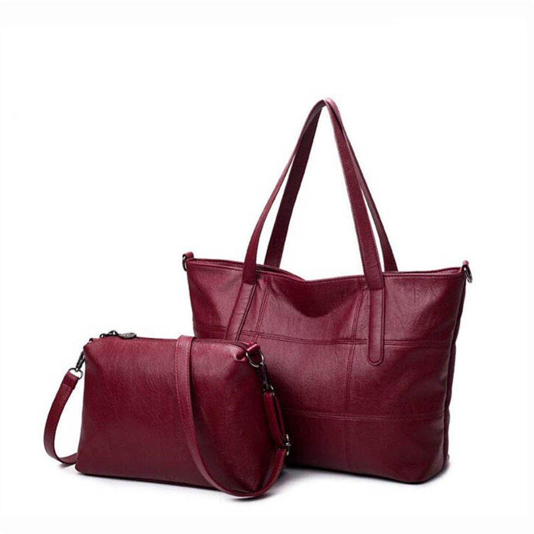Rick&Tina APPAREL レディース B07CK7LP77 Burgundy Handbags 30cm Max-Length 50cm