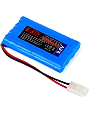 BAKTH High Capacity Security 9.6V 2000mAh Rechargeable Low Self Discharge NiMH Battery Pack for RC/Remote Control Car, Truck, Buggy, Boat, Helicopter, Airplane, Truggy, Hobby, Robots + Free Coaster