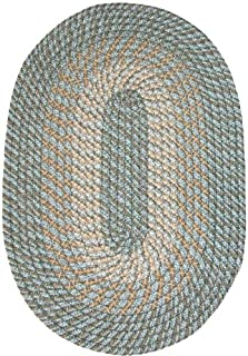 product image for Plymouth 8' Round Braided Rug in Country Blue