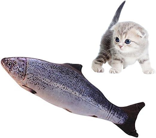 Namgiy Juguete interactivo para gatos, juguetes para masticar, rascador de gatos, mascotas, almohada para comida, suministros de salmón, 20 cm: Amazon.es: Productos para mascotas