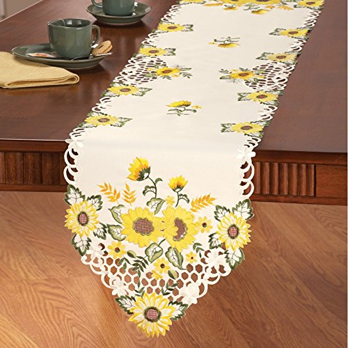 Decorative Sunflower Table Linens Runner