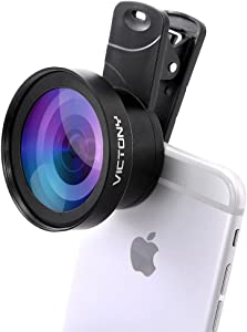VICTONY Phone Lens Kit 0.45 x 110 Wide Angle 12.5 x Macro,2 in 1 Professional HD Camera Lens for iPhone 7/7 Plus/6s/6s Plus/6/5, Samsung and Most Smartphone
