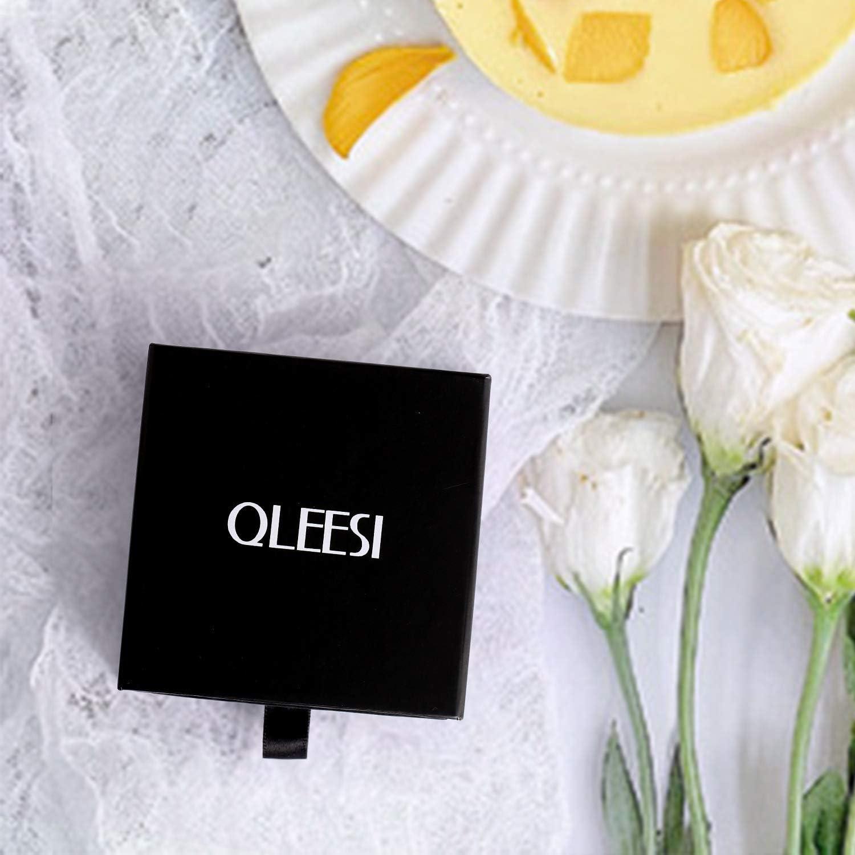 QLEESI Coeur Damour Collier Aile Dange pour Femme Colliers en Zircone Cubique Plaqu/és en or Blanc Cadeaux pour Maman Fille