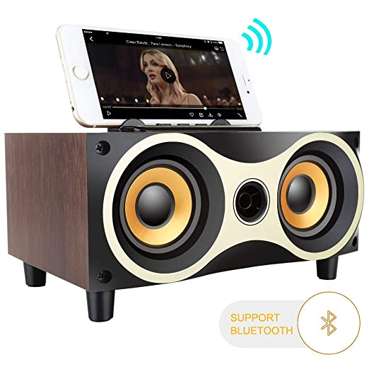 Inalámbrico 4,2 Bluetooth Altavoz de Madera subwoofer Audio ...