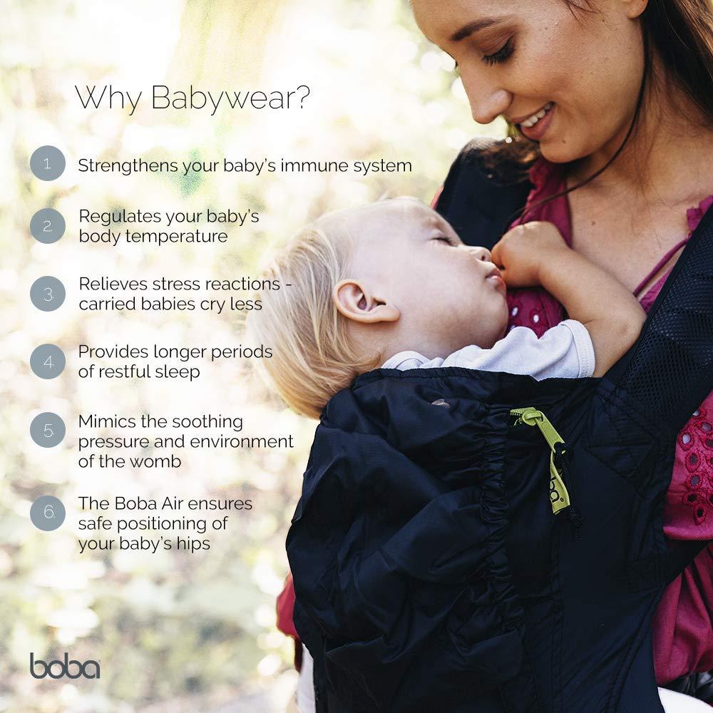 37edecf64b3 Amazon.com   Boba Air Baby Carrier - Grey - Breathable mesh Shoulder  Straps