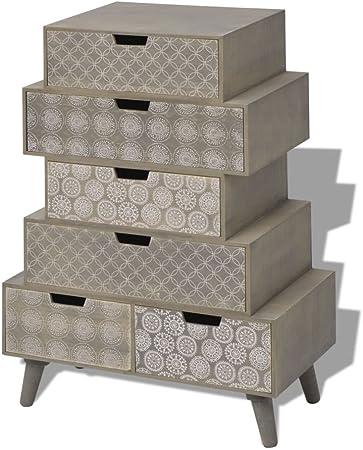 Tuduo Mueble con 6 cajones Gris Robusta, Resistente, diseño único Credenza Cocina aparador Moderno: Amazon.es: Hogar