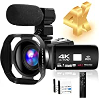 4K HD Camcorder 48MP 30FPS 18X Digital Zoom Video Camera for YouTube Camcorder 3.0 inch Touch Screen IR Night Vision…